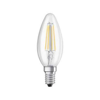 QualityLight - LED E14 KERZE 360° FILAMENT 4W => 40W - transparent/2700K/470lm