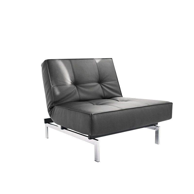 innovation splitback chair chrome blackartificial - Bergroe Sessel Chaiselongue