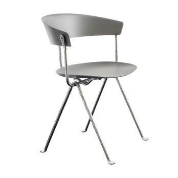 Magis - Officina Stuhl - grau/Beine verzinkt/für Innen- und Außenbereich geeignet