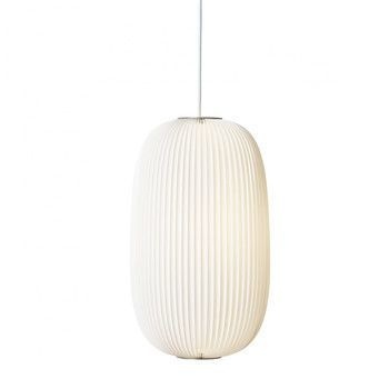 Le Klint - Lamella Pendelleuchte - weiß/Gestell aluminium/Incl. LED 20W/E27/800lm/H 52cm/Ø 30cm