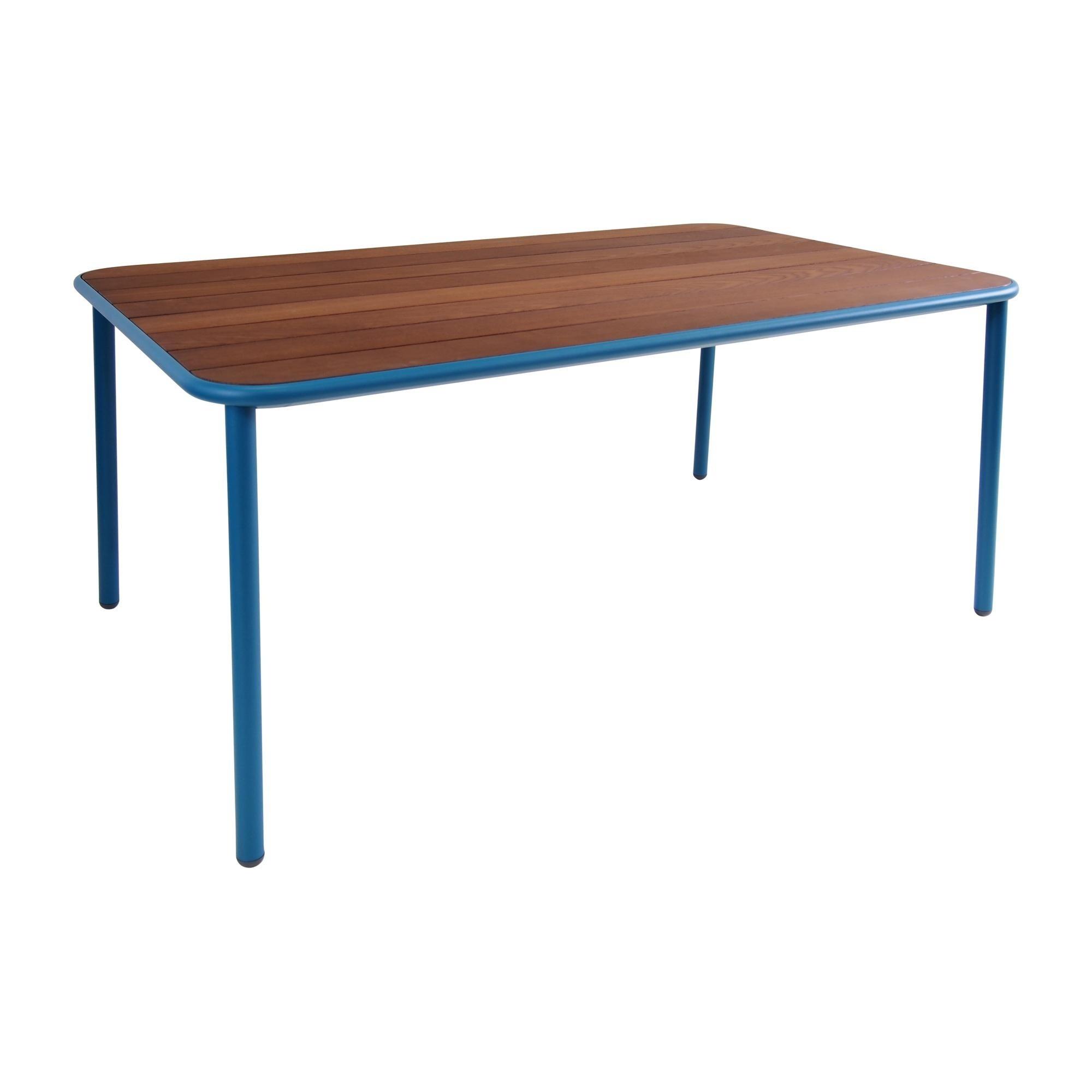 Emu yard garden table ash wood 160x97 5cm blue ash