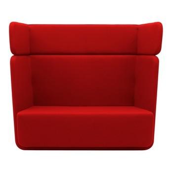 Softline - Basket Sofa mit hohem Rücken - rot/Stoff Filz 622/BxHxT 152x126x74cm