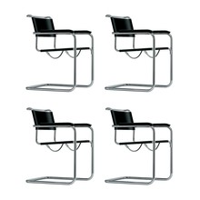 Thonet - Action Thonet S 34 Cantilever Armchair Set of 4
