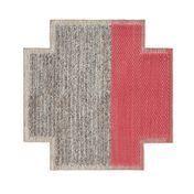 GAN - Mangas Space Square Teppich - koralrot/grau geflochten