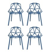 Magis - Chair One stapelstoel set van 4