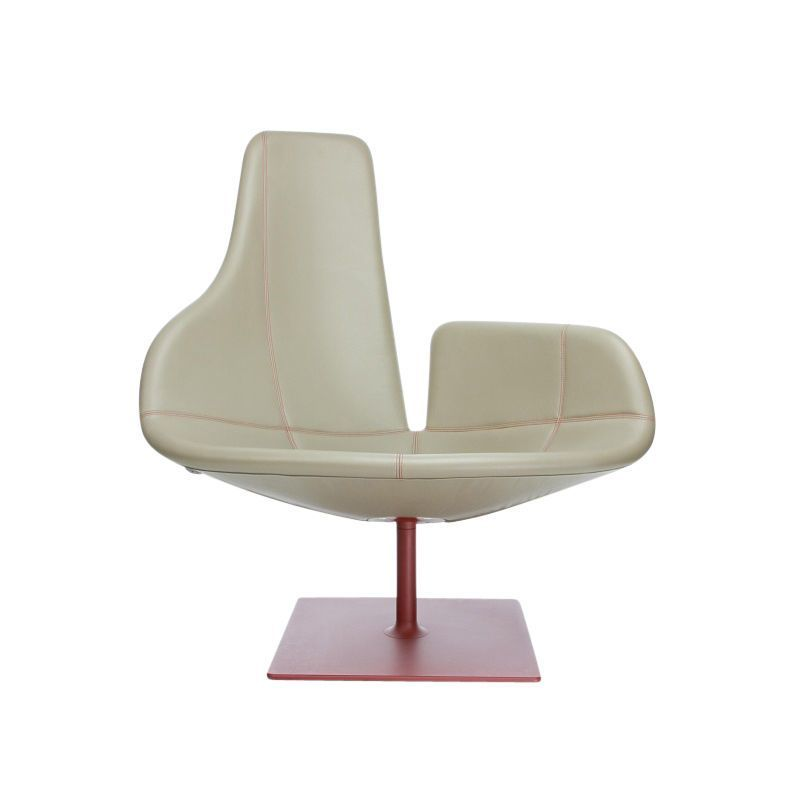 moroso fjord swivel armchair and frame red