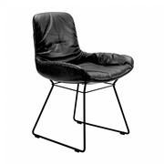 Freifrau - Chaise avec accoudoirs basse Leya structure fil