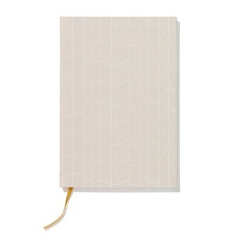 Vitra - Vitra Notebook Hardcover A5 Notizbuch - graph creme/gelb/Leinenbezug/14.8x21cm