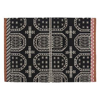 GAN - Kilim Tasili Teppich  - rot/weiß/schwarz/Größe 3/200x300cm