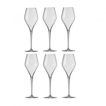 Schott Zwiesel - Finesse Sekt/Champagner Glas 6er Set - transparent/Tritan® Kristallglas/297.5ml/H: 23.8cm/mit Moussierpunkt
