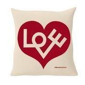 Vitra - Suita Love Kissen - weiß/rot/Stoff Olimpo 02/40x40cm/Lieferbar voraussichtlich ab Februar!