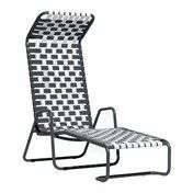 Gervasoni - InOut 881 Liegestuhl - weiß/grau/glänzend weiß-graues PVC/Aluminium matt lackiert/nicht verstellbar