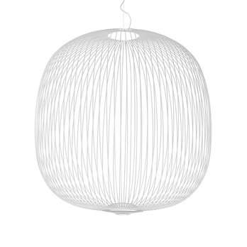 Foscarini - Spokes 2 Large LED Pendelleuchte - weiß/H 73cm/ Ø 70cm/2700K/3220lm
