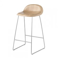 Gubi - 3D Counter Stool Kufengestell Chrom