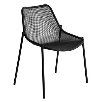 emu - Round Gartenstuhl - schwarz/pulverbeschichtet/BxHxT 63x79x58cm