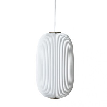 Le Klint - Lamella 2 Pendelleuchte - weiß/gold metallic/Incl. LED 20W/E27/800lm/H 52cm/Ø 30cm