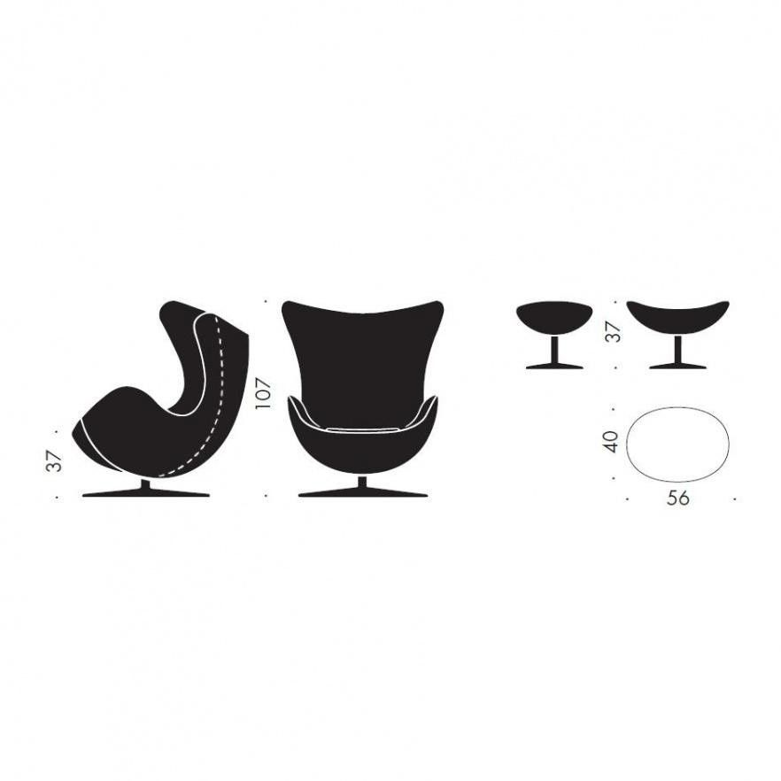 promotion set egg chair + footstool leather | fritz hansen, Hause deko