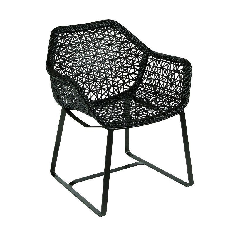 Kettal   Maia Armchair / Garden Chair   Black/chestnut/frame Manganese Black