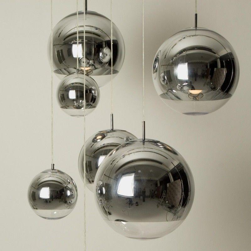 Tom Dixon Lampada Fluoro : Mirror ball pendant pendelleuchte chrom tom dixon