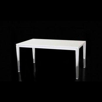 Magis - Calippo Esstisch ausziehbar - weiß/Tischgestell transparent/L :160 - 200cm