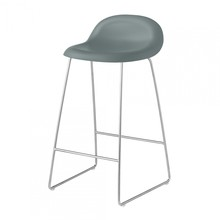 Gubi - 3D Counter Stool 65cm Kufengestell Chrom