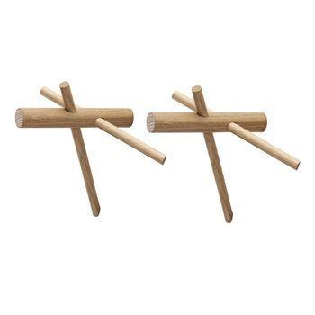 Normann Copenhagen - Sticks Haken Set 2 Stück - eiche/natur