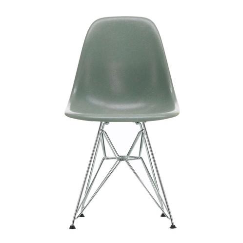 Eames Fiberglass Side Chair DSR Chromed Base