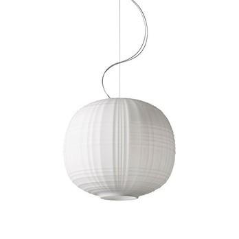 Foscarini - Tartan LED Pendelleuchte - weiß/H 35cm / Ø 40 cm/nicht dimmbar/3000 K /2426 lm