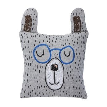 ferm LIVING - Little Mr. Teddy Kinderkissen - grau/Handwäsche/30x30cm