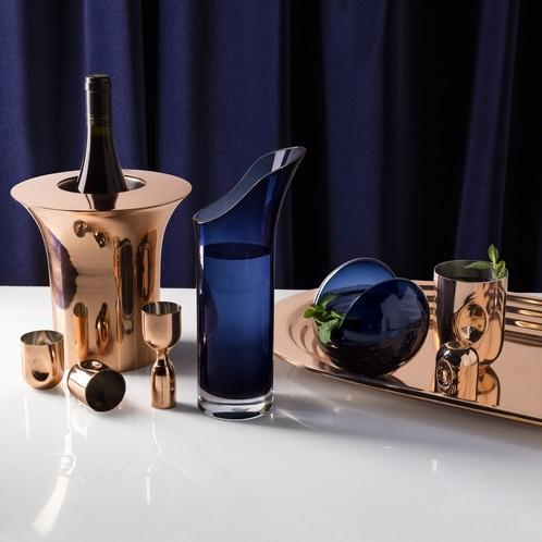 Tom Dixon - Plum Schnapsglas 4er Set mit Dosierer