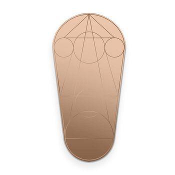 - Mask Wandspiegel Oval 120x60cm - bronze