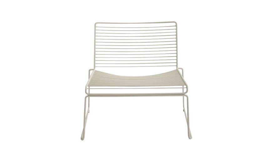 Perfect HAY   Hee Lounge Chair   Beige/lacquered/72x67x67cm/seat Height: 37cm ...