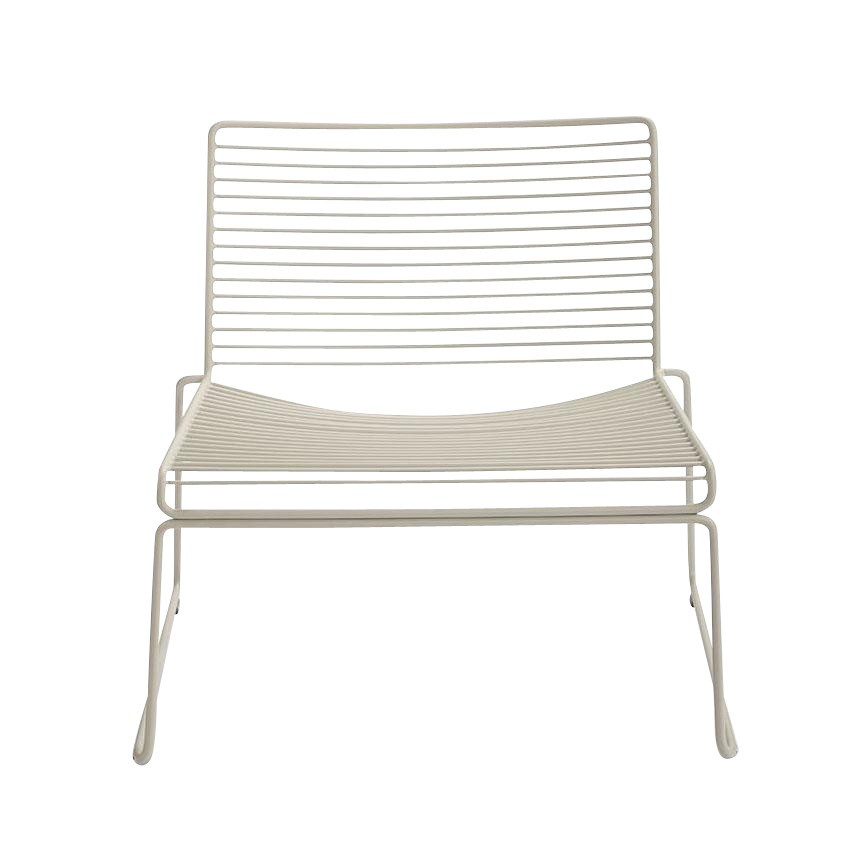 HAY   Hee Lounge Chair   Beige/lacquered/72x67x67cm/seat ...