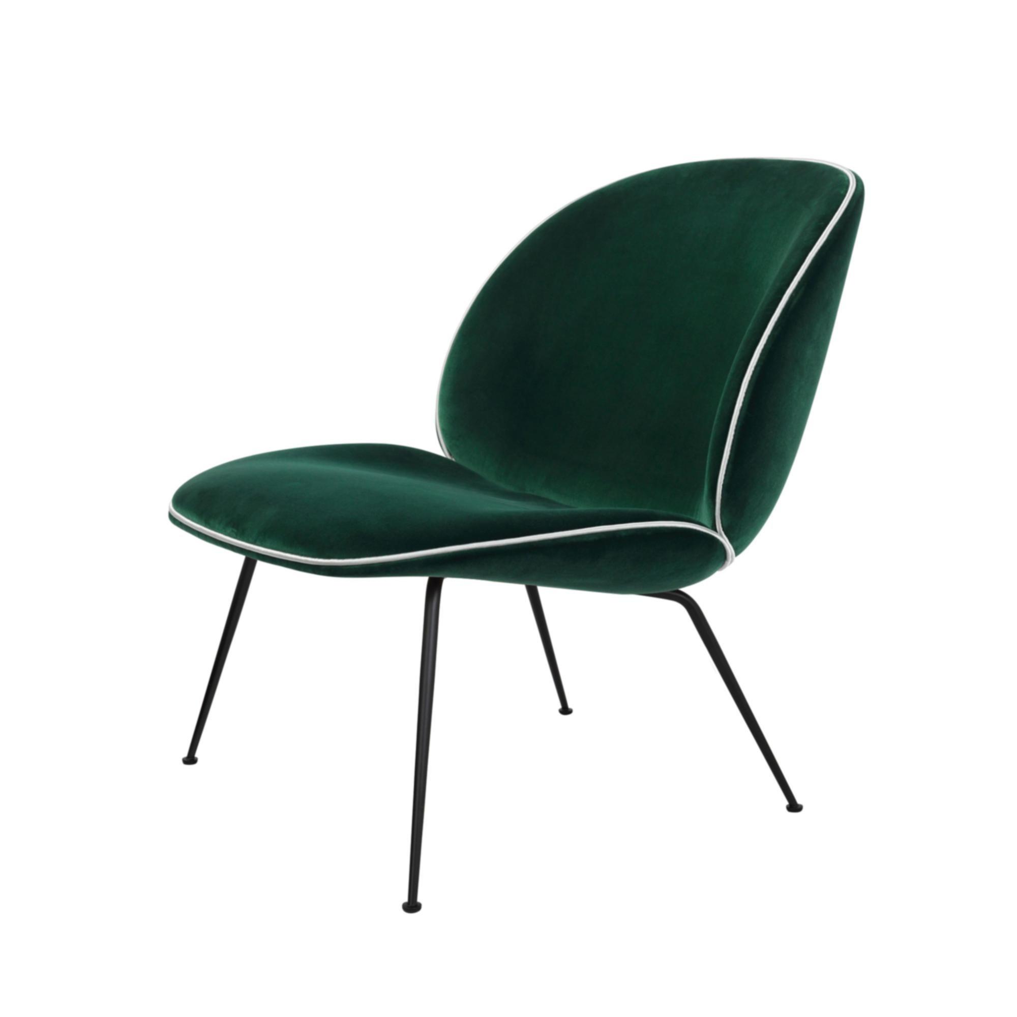 gubi beetle lounge sessel samt gestell schwarz ambientedirect. Black Bedroom Furniture Sets. Home Design Ideas