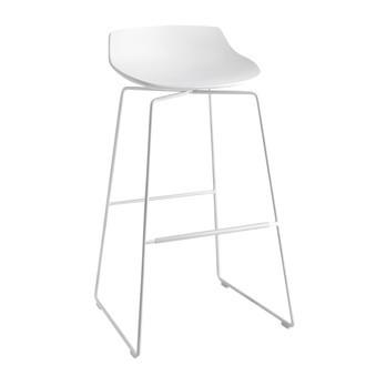 MDF Italia - Flow Barhocker Kufengestell 78cm - weiß/Gestell weiß/matt/Sitzhöhe 78 cm
