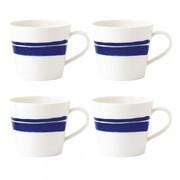 Royal Doulton - Set de 4 tasses Pacific Brush