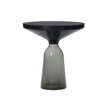 ClassiCon - Bell Side Table Beistelltisch Stahl - quarz-grau/Stahl schwarz brüniert/Ø50cm/H:54cm