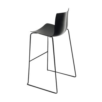 Superb Catifa 46 0471 Bar Stool Unicoloured Black Caraccident5 Cool Chair Designs And Ideas Caraccident5Info