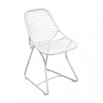 Fermob - Sixties Garden Chair - white/frame cotton white/LxWxH 54.8x51.1x84cm