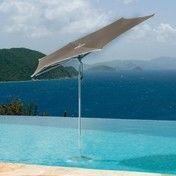 Tuuci - Ocean Master Razor Sonnenschirm| Ausstellungsstück - taupe/Gestell aluminium/Ø335cm/Auto-Loc-Lift Flaschenzugsystem/Einzelstück - nur einmal verfügbar!