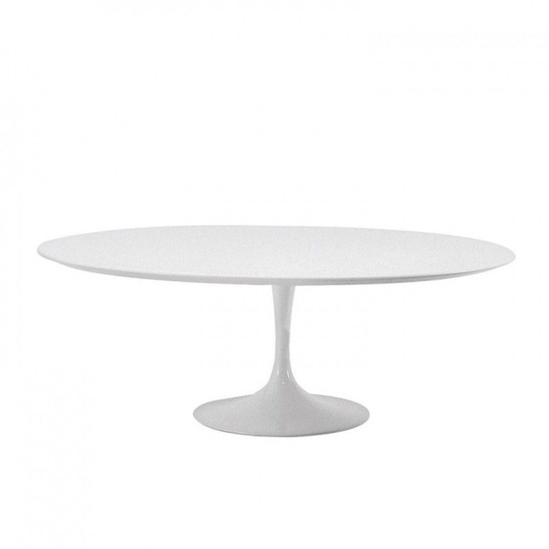Esstisch oval weiß  Saarinen Oval Table | Knoll International | AmbienteDirect.com