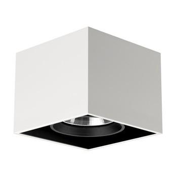 Flos - Compass Box 1 Deckenleuchte - weiß/Stahl/16,5x16,5x13,5cm/inkl. elektronischer Trafo