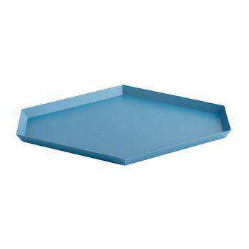 HAY - Kaleido L Ablage/Tablett - blau/39x34cm