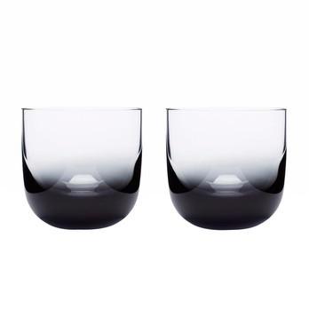Tom Dixon - Tank Whiskyglas 2er Set - schwarz/mundgeblasen/H 8cm/Ø 8.5cm