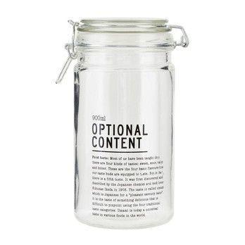 - Optional Content Vorratsglas - transparent/schwarz/H 20cm/Ø10cm/900ml