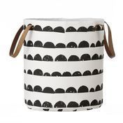 ferm LIVING - Half Moon Basket - black/white/Ø35cm