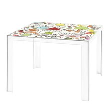 Kartell - Invisible Kindertisch mit Motiv