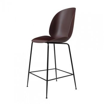 Gubi - Beetle Counter Chair Barhocker Schwarz 108cm - dunkel pink/Sitz Polypropylen-Kunststoff/BxHxT 53,5x108x58cm/Gestell Schwarz
