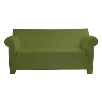 Kartell - Bubble Club Sofa / Zweisitzer - grün/matt/LxBxH 189x75x76cm/Neue Farbe!