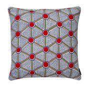 HAY - Kissen Printed Cushion - Zellen/mit Federfüllung/50x50cm